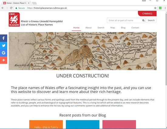 Case Study: Historic Place Names of Wales